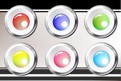 Bottoni lucidi Fotografia Stock