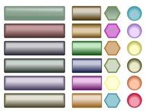 Bottoni lucidi di Web Fotografia Stock