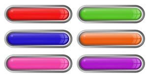 Bottoni luminosi del volume per il vostro sito Fotografia Stock