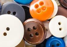 Bottoni nella macro Immagine Stock Libera da Diritti