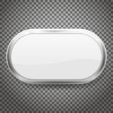Bottoni ovali con la struttura del cromo isolata su fondo trasparente Illustrazione di vettore illustrazione di stock