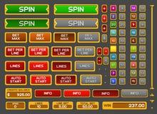 Bottoni per il gioco delle scanalature Fotografia Stock Libera da Diritti