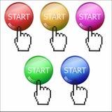 Bottoni per il sito Fotografia Stock