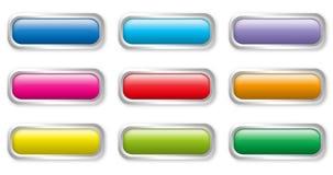 Bottoni piani di colore Fotografia Stock