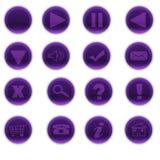 Bottoni porpora rotondi di web Immagini Stock Libere da Diritti