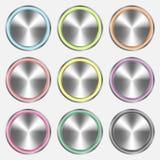 Bottoni realistici del metallo Immagine Stock