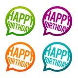 Bottoni rotondi di buon compleanno Vettore del cerchio Eps10 illustrazione vettoriale