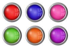 Bottoni rotondi luminosi per il vostro sito Fotografie Stock