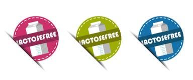 Bottoni senza lattosio - illustrazione di vettore - isolati su bianco Immagini Stock Libere da Diritti