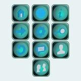 Bottoni sociali delle icone illustrazione vettoriale
