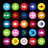 Bottoni stabiliti dell'icona della freccia Fotografie Stock