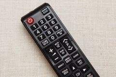 Bottoni su telecomando per la televisione Fotografia Stock