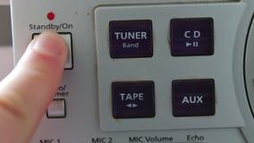 Bottoni su un registratore video d archivio