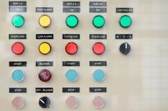 Bottoni sul bordo di regolatore di energia elettrica Fotografia Stock Libera da Diritti