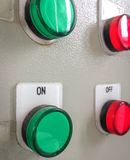 Bottoni sul pannello di controllo Immagini Stock Libere da Diritti