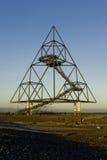 Bottrop Tetraeder en 60 meter hög Tetrahedron Arkivfoton
