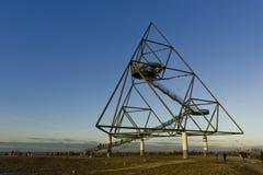 Bottrop Tetraeder un tétraèdre de 60 mètres d'hauteur Photo stock