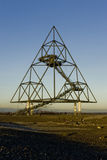 Bottrop Tetraeder un tétraèdre de 60 mètres d'hauteur Photos stock