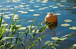 Bouée dans un lac Photographie stock libre de droits