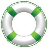 Bouée de durée verte Photo stock