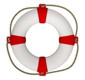 Bouée de sauvetage avec la corde Photos libres de droits