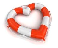 Bouée de sauvetage de coeur (chemin de coupure inclus) Image stock