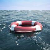 Bouée de sauvetage en mer Photos stock