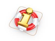 Bouée de sauvetage et symbole d'information. Photo libre de droits