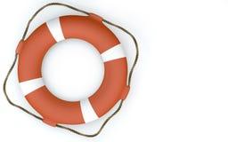 Bouée de sauvetage orange Photographie stock