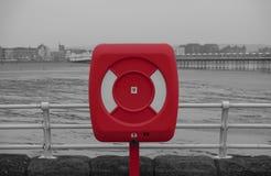 Bouée de sauvetage rouge photos libres de droits