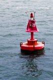 Bouée rouge marine Images libres de droits