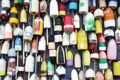 Bouées de langoustine Photo libre de droits