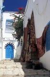 bou城市说sidi突尼斯人 免版税库存图片