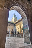 bou菲斯inania madrasa摩洛哥 免版税图库摄影