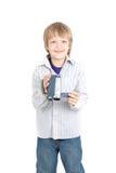 Bou con la cámara de vídeo Imágenes de archivo libres de regalías
