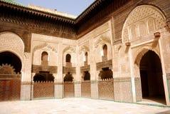 bou fes inania medrese摩洛哥 库存照片