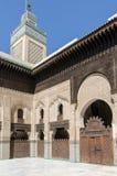 Bou Inania Madrasa, διάσημο παράδειγμα της αρχιτεκτονικής Maranid και μιας δημοφιλούς θέας τουριστών, Fes, Μαρόκο, Βόρεια Αφρική Στοκ Εικόνα