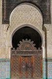 Bou Inania Madrasa, διάσημο παράδειγμα της αρχιτεκτονικής Maranid και μιας δημοφιλούς θέας τουριστών, Fes, Μαρόκο, Βόρεια Αφρική Στοκ Φωτογραφία