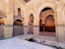 Bou Inania Madrasa в Fes, Марокко Стоковые Изображения