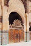 Bou Inania Madrasa в Fes, Марокко Стоковая Фотография