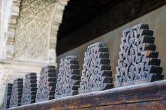 Bou Inania Madrasa, известный пример архитектуры Maranid и популярного туристского визирования, Fes, Марокко, Северной Африки Стоковые Изображения