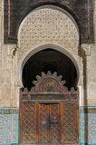 Bou Inania Madrasa, известный пример архитектуры Maranid и популярного туристского визирования, Fes, Марокко, Северной Африки Стоковая Фотография