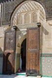 Bou Inania Madrasa, известный пример архитектуры Maranid и популярного туристского визирования, Fes, Марокко, Северной Африки Стоковое Изображение RF