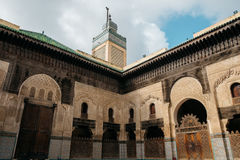 Bou Inania Madrasa dans Fes Maroc Images stock
