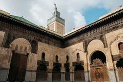 Bou Inania Madrasa en Fes Marruecos Imagenes de archivo