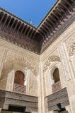 Bou Inania Madrasa, famous example of Maranid architecture and a popular tourist sight, Fes, Morocco, North Africa Stock Images