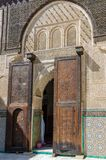 Bou Inania Madrasa, famous example of Maranid architecture and a popular tourist sight, Fes, Morocco, North Africa Royalty Free Stock Image
