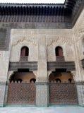 Bou Inania Madrasa in Fes, Marokko Royalty-vrije Stock Afbeeldingen
