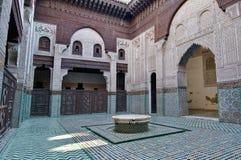 Bou Inania Madrasa in Meknes, Marokko Royalty-vrije Stock Afbeeldingen