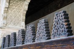 Bou Inania Madrasa, sławny przykład Maranid architektura i popularny turystyczny widok, Fes, Maroko, afryka pólnocna Obrazy Stock